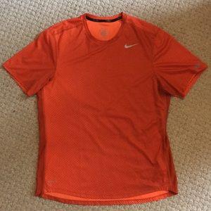 Orange Nike Dri-Fit Running Shirt